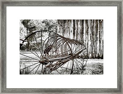 Bale The Hay Framed Print by Greg Sharpe
