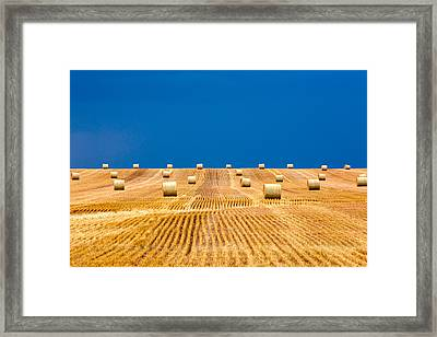 Bales On The Storm Framed Print by Todd Klassy