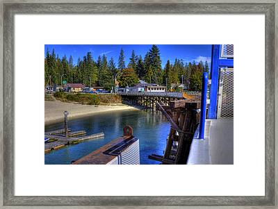 Balfour Bc Docks And Ferry  Framed Print by Lee  Santa