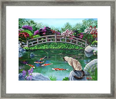 Balinese Cat At Hakone Framed Print by Laura Iverson