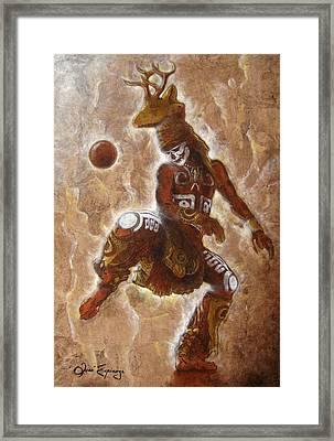 Ball Game Framed Print by Jose Espinoza