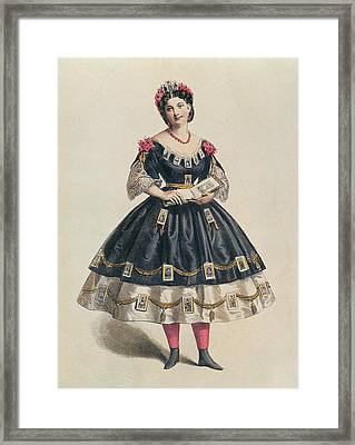 Ball Gown Decorated With Photographic Cartes De Visite  Framed Print by French School