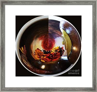 Ball Of Flowers Framed Print by Marsha Heiken
