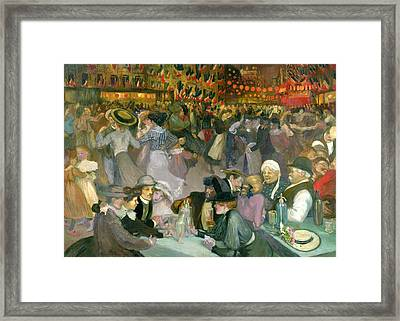 Ball On The 14th July Framed Print by Theophile Alexandre Steinlen