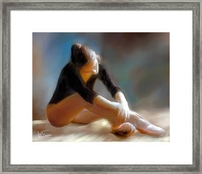 Ballerina 3 Framed Print by Juan Carlos Ferro Duque