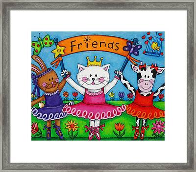 Ballerina Friends Framed Print by Lisa  Lorenz