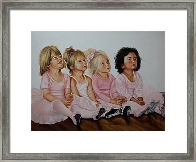 Ballerina Girls Framed Print by Joni McPherson