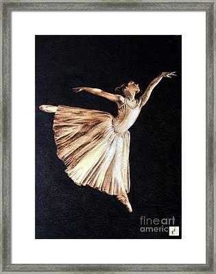 Ballerina Framed Print by Ilaria Andreucci