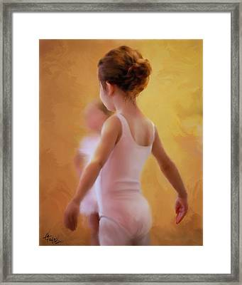 Ballerina In Pink Framed Print by Colleen Taylor
