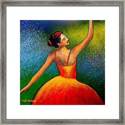 Ballerina Framed Print by John  Nolan