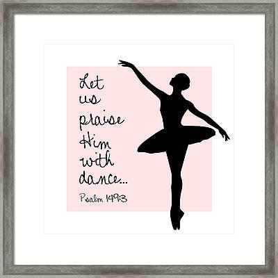 Ballerina Praise Framed Print by Nancy Ingersoll