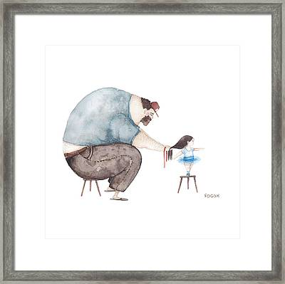 Ballerina Framed Print by Soosh