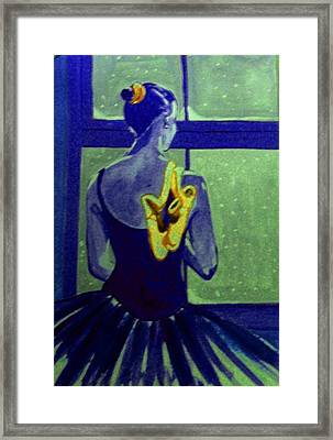 Ballerine En Hiver Framed Print by Rusty Woodward Gladdish