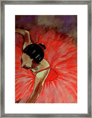 Ballerine Rouge Framed Print by Rusty Woodward Gladdish