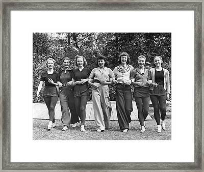 Ballet Dancers In The Park Framed Print by Underwood Archives