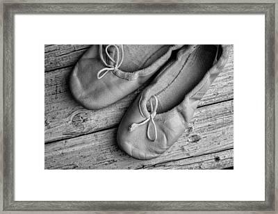 Ballet Shoes Framed Print by Nailia Schwarz