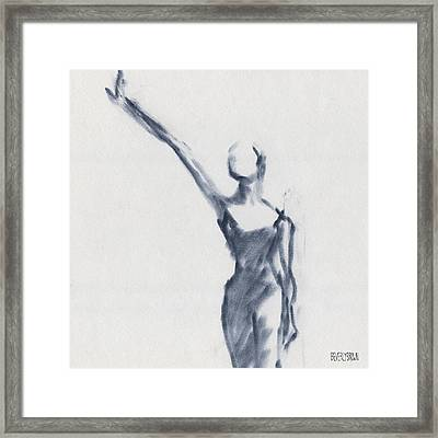 Ballet Sketch One Arm Extended Framed Print by Beverly Brown