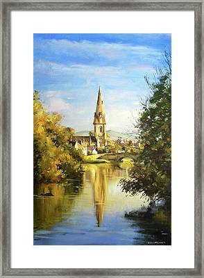 Ballina Cathedral Spire Framed Print by Conor McGuire