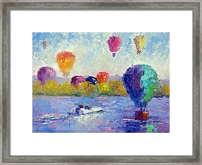 Balloon Festival  Framed Print by Terry  Chacon