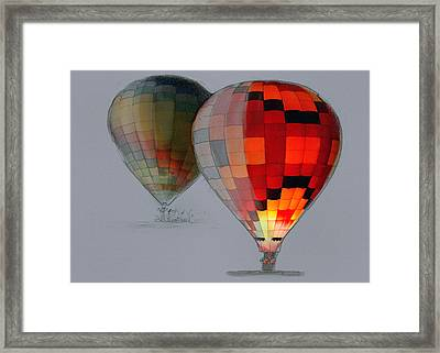 Balloon Glow Framed Print by Sharon Foster