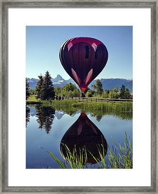 Balloon Reflection Framed Print by Leland D Howard
