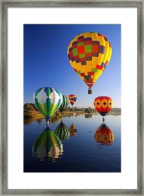 Balloon Reflections Framed Print by Mike  Dawson