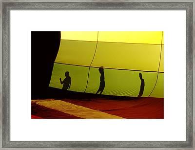 Balloon Shadows Framed Print by Jim DeLillo