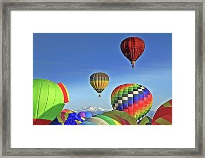 Ballooning Above Longs Peak Framed Print by Scott Mahon
