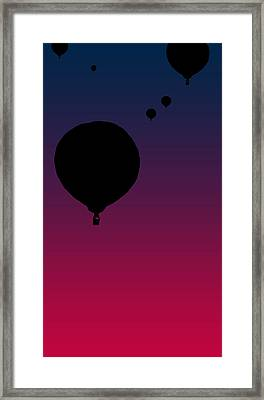 Balloons At Dusk Framed Print by Jera Sky