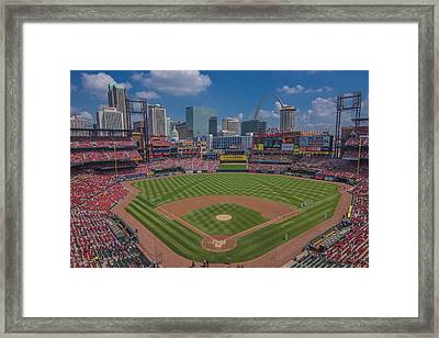 Ballpark Village Cardinal Nation Busch Stadum St. Louis Cardinals April 2015 #2 Framed Print by David Haskett