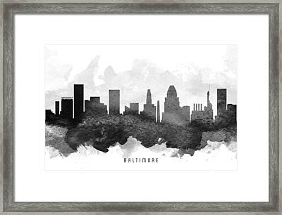 Baltimore Cityscape 11 Framed Print by Aged Pixel