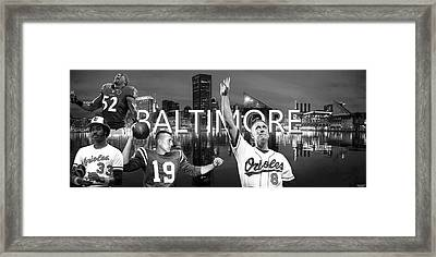 Baltimore Legends Framed Print by Corrie Everhart
