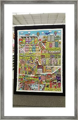 Baltimore, My Hometown Framed Print by Valerie Batts