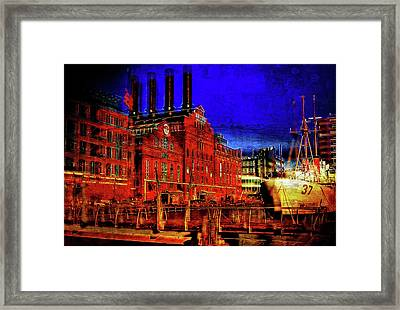 Baltimore's Power Plant At Night Framed Print by Chet Dembeck
