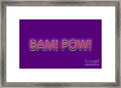 Bam Pow Tee Framed Print by Edward Fielding