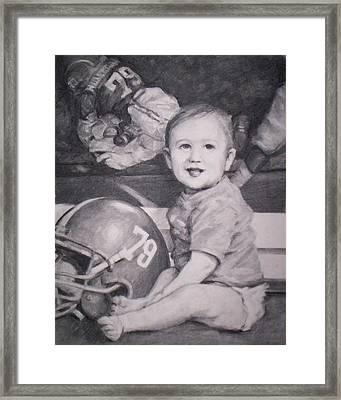 Bama Player's Son Framed Print by Dennis Earley