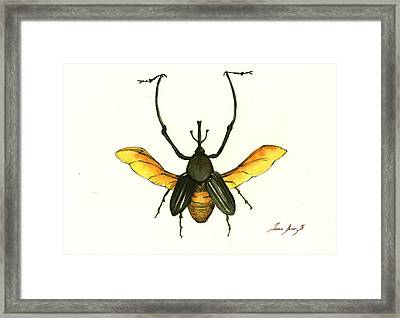Bamboo Beetle Framed Print by Juan Bosco