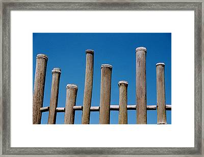 Bamboo Fence Framed Print by Spirit Vision Photography