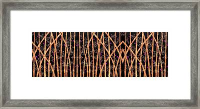 Bamboo Forest At Night Framed Print by Sumit Mehndiratta
