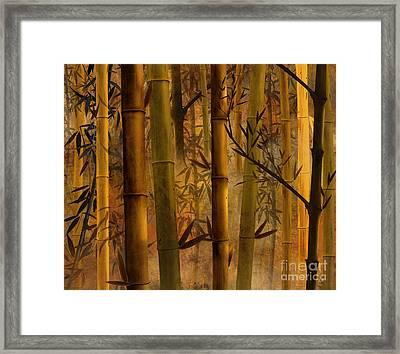 Bamboo Heaven Framed Print by Bedros Awak