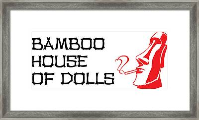 Bamboo House Of Dolls Framed Print by Nicola Ginzler