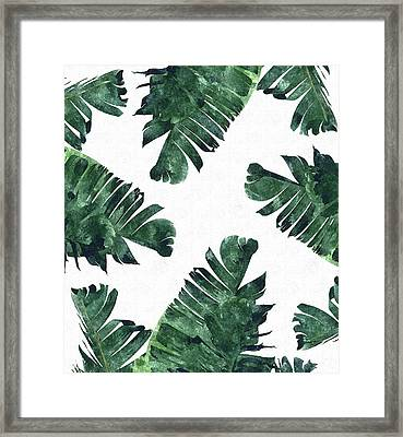 Banan Leaf Watercolor Framed Print by Uma Gokhale