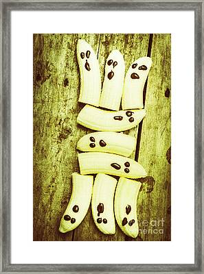 Bananas With Painted Chocolate Faces Framed Print by Jorgo Photography - Wall Art Gallery