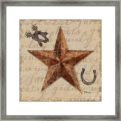 Bandana Barn Star Iv Framed Print by Paul Brent