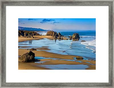 Bandon Beach Framed Print by Darren  White