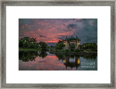 Bandstand In Front Of The Muny Framed Print by Garry McMichael