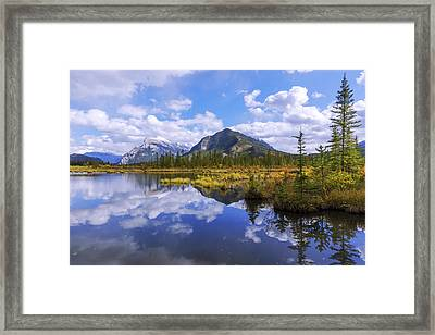 Banff Reflection Framed Print by Chad Dutson