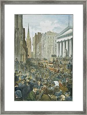 Bank Panic, 1884 Framed Print by Granger