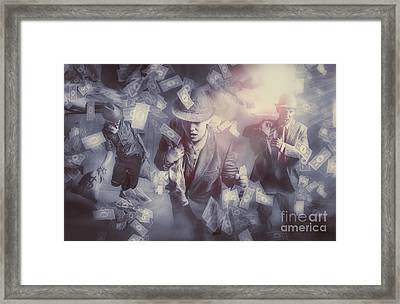 Bankers Bailout With Bail-ins Framed Print by Jorgo Photography - Wall Art Gallery