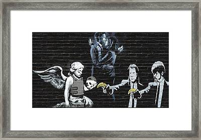 Banksy - The Tribute - Failure To Communicate Framed Print by Serge Averbukh